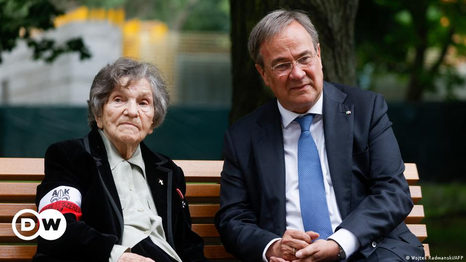 Poland: Germany chancellor candidate in Warsaw on uprising anniversary