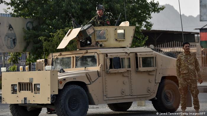 Soldados afganos en Kandahar.