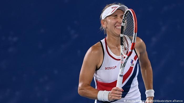 Российская теннисистка Елена Веснина на Олимпиаде в Токио