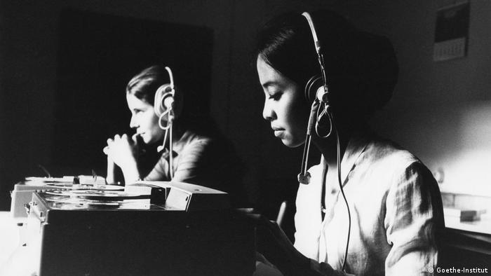 Estudiantes de alemán en Schwäbisch Hall, en la década del 70.