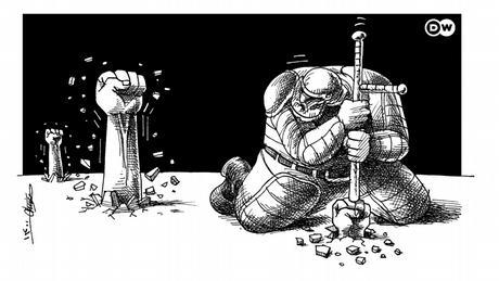 Karikatur der Woche: Unruhen im Iran
