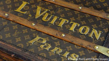 Antique suitcase featuring the name L. Vuitton, Paris