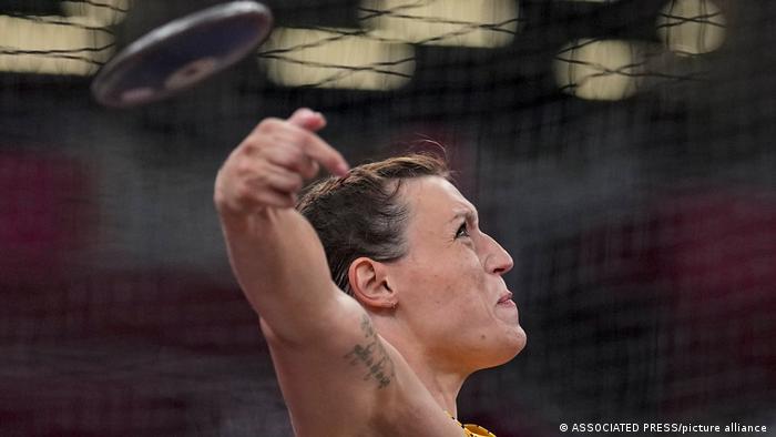 Tokyo Olympics Athletics Kristin Pudenz Dikusswerfen