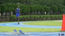 1) Titel: runner1 2) Titel: runner2 Schlagworte: Tokyo 2020, Olympics, South Sudan, Abraham Majok Guem, Sendedatum: 02.08. Ort: Maebashi, Japan Rechte: DW