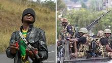 Dezember 2020 Separatisten an einem Checkpoint for Numba --- Paramilitary forces have been fighting against the Anglophone secessionists
