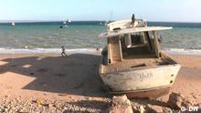 Treibstoffunfall in der Bucht von Pemba, Nordmosambik, am 31.07.2021 Ort: Pemba / Mosambik Copyright: DW Datum: 31.07.2021 Schlagworte: Pemba, Cabo Delgado, Mosambik, Petromoc, Treibstoffunfall, Kraftstoff