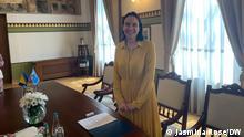 Bürgermeisterin von Sarajevo Benjamina Karić (SDP Bosniens) und Ihr Büro im Rathaus von Sarajevo