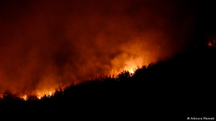 Nord-Mazedonien   Waldbrände in Trakanje