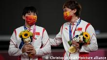 Olympische Spiele Tokio | Radsport Shanju Bao und Tianshi Zhong China | Mao-Sticker