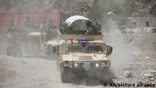 NANGARHAR, AFGHANISTAN - JULY 23: Afghan security forces deployed and start operations against Taliban around Torkham border point between Afghanistan and Pakistan in Nangarhar province, Afghanistan on July 23, 2021, as recently Taliban attacked Spin Boldak border point in Kandahar. Stringer / Anadolu Agency