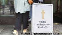 یک مرکز واکسیناسیون کودکان در آلمان