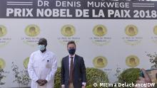 (c) DW-correspondent in DRC Mitima Delachance | 2nd Aug 2021 German Ambassador in The Democratic Republic of Congo Oliver Schnakenberg visited Panzi hospital in Bukavu, in South Kivu province and met with Nobel Peace price winner Doctor Denis Mukwege