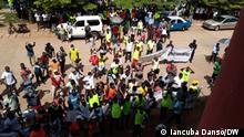 03.08.2021, Protest der Nationalen Gewerkschaft der Arbeiter Guinea-Bissaus (UNTG) in Bissau.
