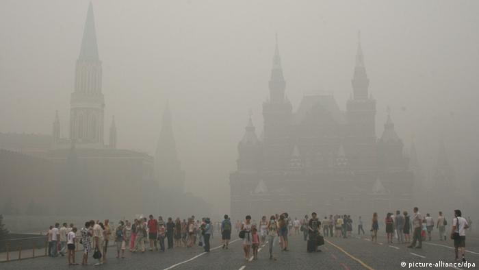 Russland Moskau Waldbrände Smog