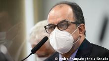 Amilton Gomes de Paula, Direktor der NGO Senah. Am 03.08.2021 in einer Anhörung des brasilianischen Kongresses über die Covid-19 Pandemie.