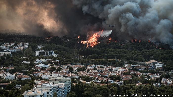 Лісові пожежі в Греції