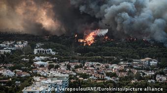 H πυρκαγιά στη Βαρυμπόμπη