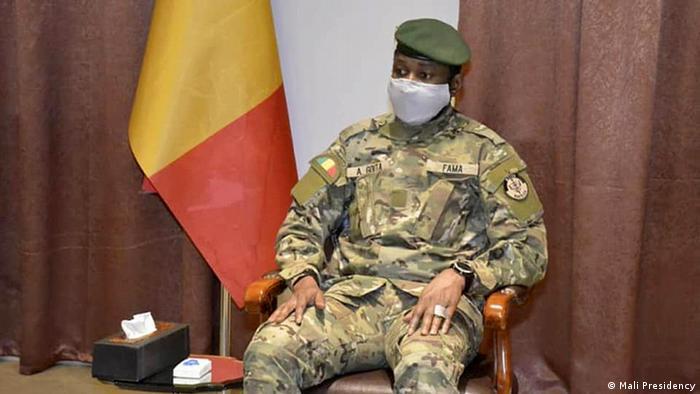 Mali Treffen Assimi Goïta Delegation Tschad