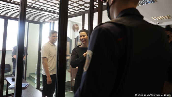 Максим Знак и Мария Колесникова в суде