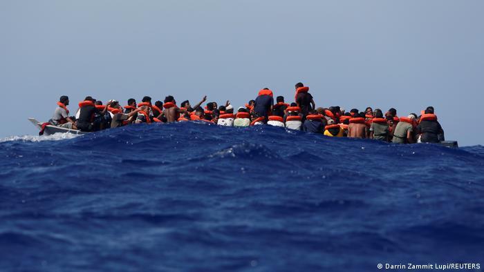 Mittelmeer Evakuierung Familie von Sea Watch 3