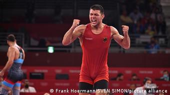 Бронзовый призер Олимпийских игр в Токио в греко-римской борьбе в весовой категории до 87 кг Денис Кудла