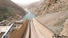 Darbandikhan, KRI. The Darbandikhan dam, located 65km southeast of Sulaymaniyah, was constructed in 1961 on the Sirwan river, which springs from the Zagros Mountains in Iran and ends in the Tigris river, southeast of Baghdad. The dam has a capacity to contain three million cubic metres and is used for irrigation, flood control, hydroelectric power production and recreation. With Iran limiting the flow by 75 to 80 percent in the last months, the level of the water in the dam reached its lowest level. Normally in March 400 to 500 cubic meters per second of water used to flow in the dam. In March 2021 it was only 28 cubic meters per second.