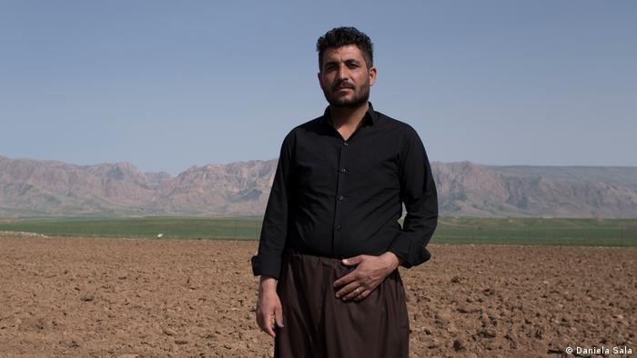 Alqod Mahmoud, en la aldea de Topkhana, en la región del Kurdistán iraquí, que sufre escasez de agua.