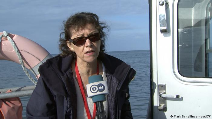 Dominique Consille auf dem Patrouillenboot