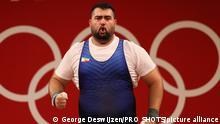 TOKYO, 04-08-2021, Tokyo International Forum , Tokyo 2020 Olympic Games, Weightlifting Men +109kg, Ali Davoudi during his clean & jerk session