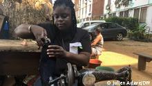 Die Bilder sind von Patricia Paule Camille Yapo, die erste Schumacherin in Elfenbeinküste.