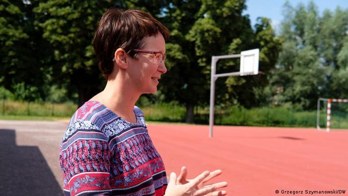 Justyna Bienkiewicz uczy matematyki w gimnazjum w Pasewalku