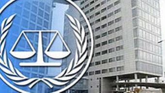 Internationaler Strafgerichtshof mit Logo