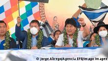 Bolivien MAS-Partei Evo Morales
