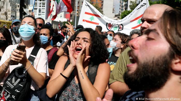 Protestierende in Beirut