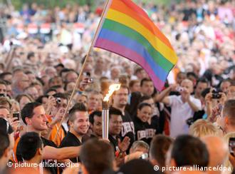 Memebers of the LGBT community come together at the Cologne Gay Games