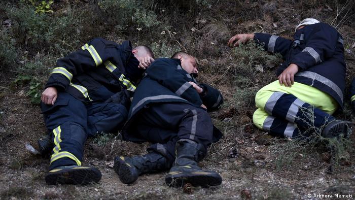 Nordmazedonien Waldbrände Feuerwehre
