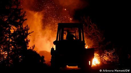 Nordmazedonien Waldbrände in der Region der Stadt Pehchevo