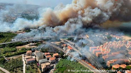 Waldbrände in Europa | Italien Pescara