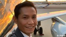 indonesischen Flugbegleiter Erwin Chandra. Copyright: Privat Aufgenommen von Freunden, Aufgenommen zwischen 2017 und 2020 Ort: Deutschland