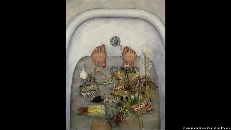 Painting by Frida Kahlo titled What Water Gave Me
