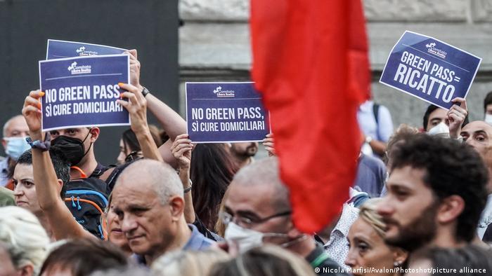 Green Pass Μιλάνο Διαδήλωση