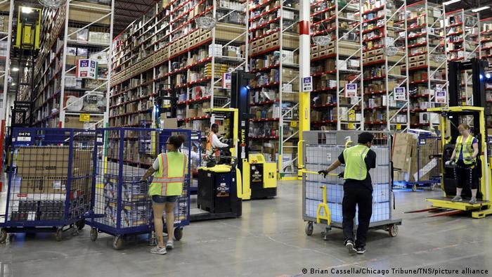 Amazon-Paketzentrum in Romeoville, Illinois