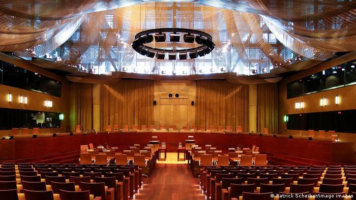 Der Verhandlungssaal des Europäischen Gerichtshofes in Luxemburg