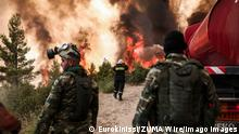 News Bilder des Tages August 5, 2021, Athens, Greece: A view of a wildfire burning the area of Drossopigi, Varybobi, northeastern suburb of Athens. More firefighters and support by air have been added to the forces battling the resurgence of the fire in Varybobi, north of Athens. The rekindling of the fire, aided by heatwave temperatures and winds. Athens Greece - ZUMAe114 20210805_zaa_e114_004 Copyright: xEurokinissix
