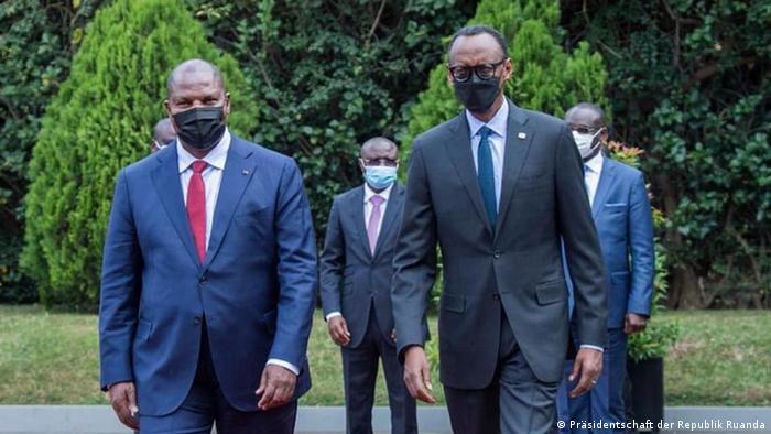 Faustin Touadéra et Paul Kagame à Kigali le 5 août 2021