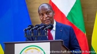 Ruanda, Kigali   Besuch des zentralafrikanischen Präsidenten Faustin-Archange Touadéra