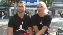 Sportler Jana Maksimawa und Andrej Krautschanka in Duisburg