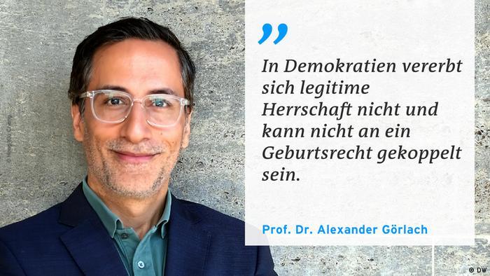 Проф. Гьорлах: В демокрациите легитимната власт не се наследява и не може да бъде свързвана с родсловието