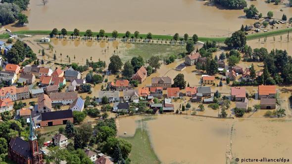 Наводнение в Германии на немецко-польской границе
