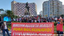 News Bilder des Tages July 24, 2021, Santos, Sao Paulo, Brazil: Protesters linked to unions, leftist movements protest against government of Jair Bolsonaro, for the impeachment of president, for more vaccines and against hunger, in Independencia Square, in Santos, Sao Paulo, on Saturday 24. Indigenous people from Guarani tribe also participate in the act. PUBLICATIONxNOTxINxUSA Copyright: xLuigixBongiovannix